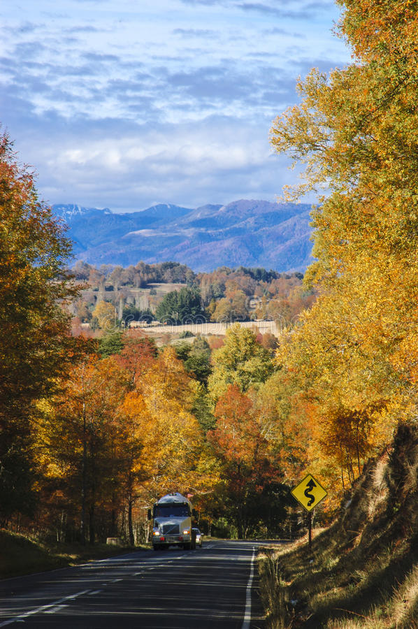 Straße im Herbst stockbilder