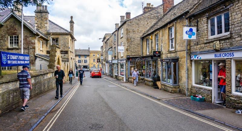 Straße im historischen Laderaum auf dem Wold stockbilder