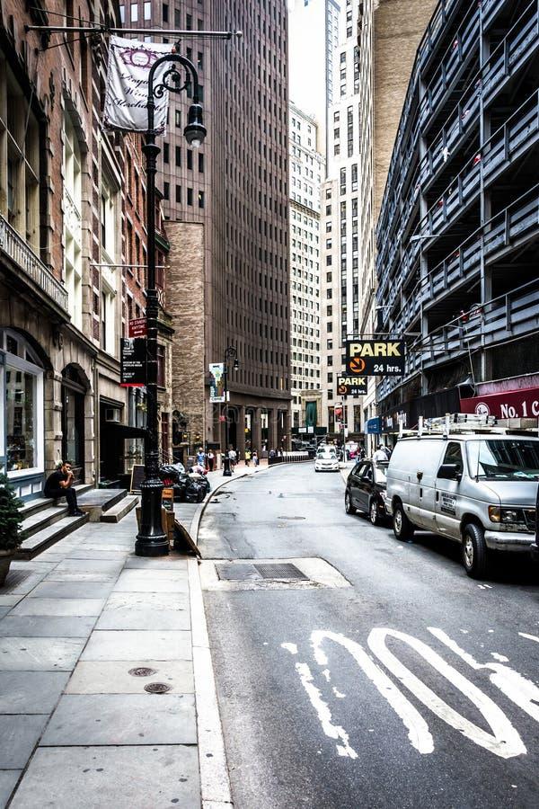 Straße im Lower Manhattan, New York stockfoto
