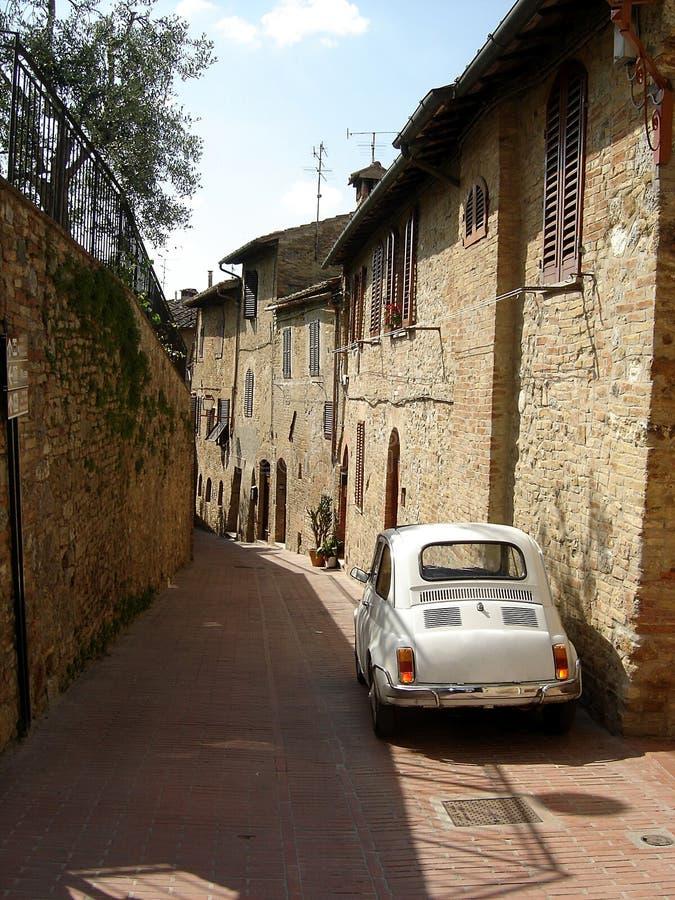 Straße im San gimignano Italien. lizenzfreies stockbild