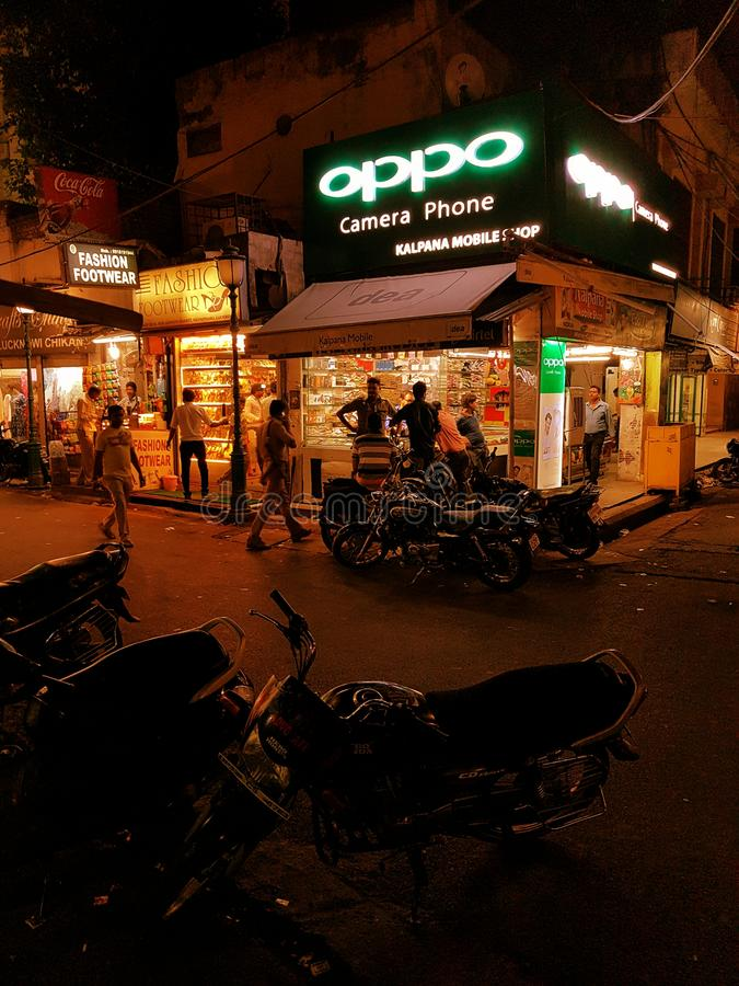 Straße Indien lizenzfreies stockbild