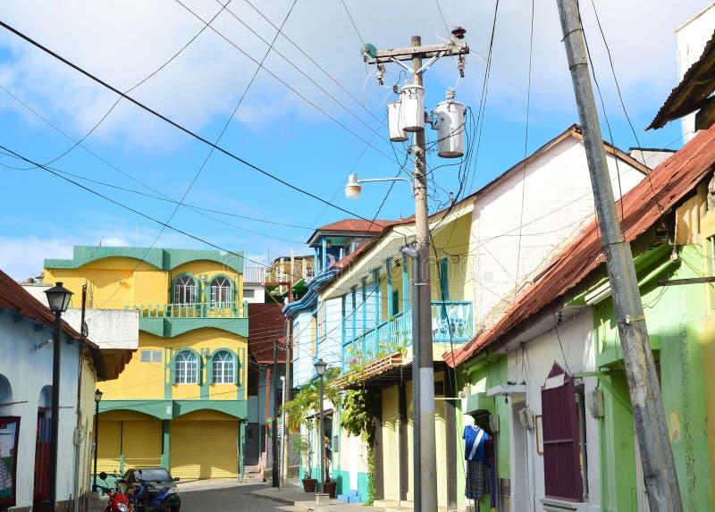Straße in isla De Flores Guatemala stockfotografie