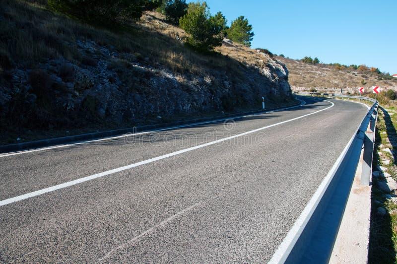 Straße in Kroatien lizenzfreie stockfotos