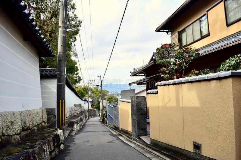Straße in Kyoto Japan stockfoto