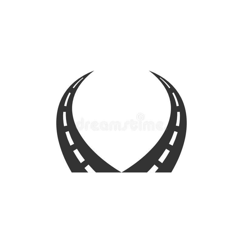 Straße Logo Vector Template Design Illustration vektor abbildung