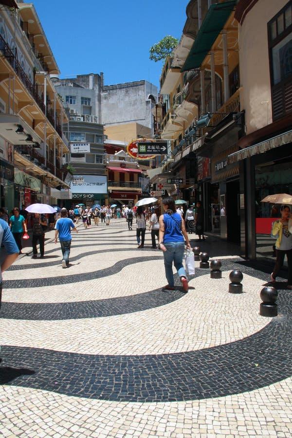 Straße in Macau lizenzfreies stockbild