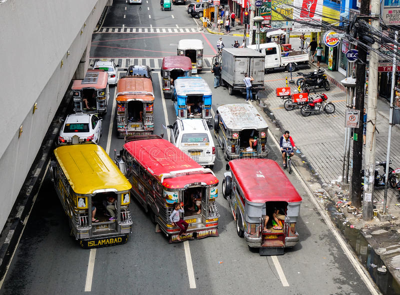 Straße in Manila, Philippinen stockfotos