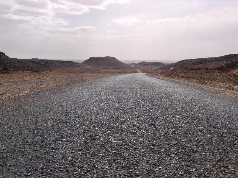 Straße in Marocco stockfoto
