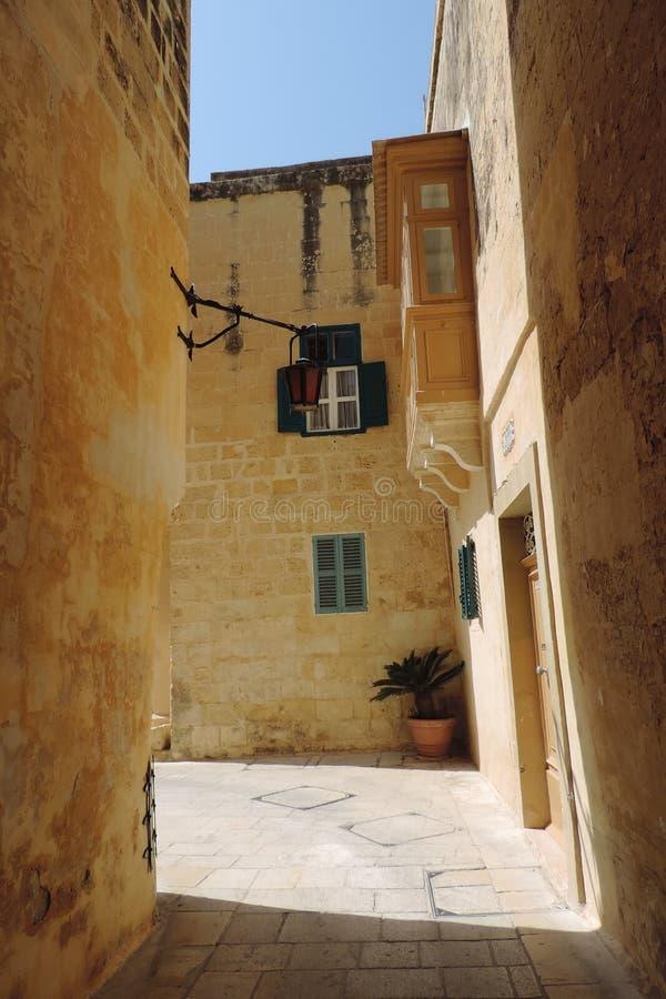 Straße in Mdina, Malta lizenzfreies stockbild
