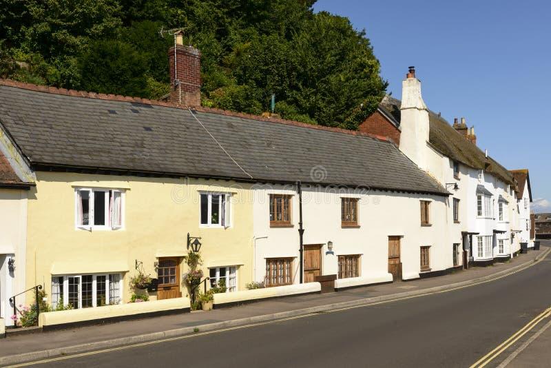 Straße am Minehead, Somerset stockbilder