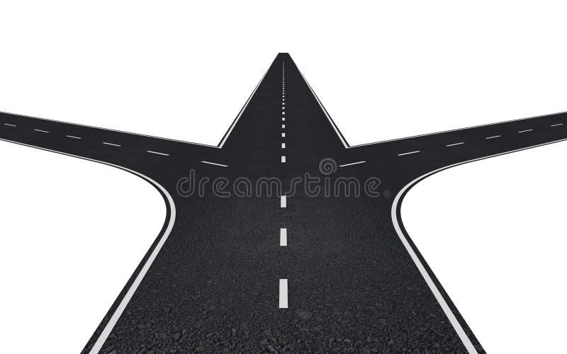 Straße mit drei Möglichkeiten stock abbildung