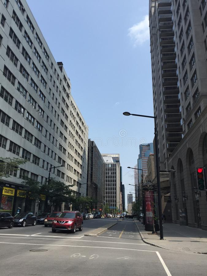 Straße in Montreal stockbild