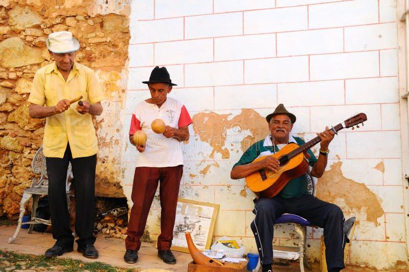 Straße muscians in Trinidad, Kuba. stockfotografie