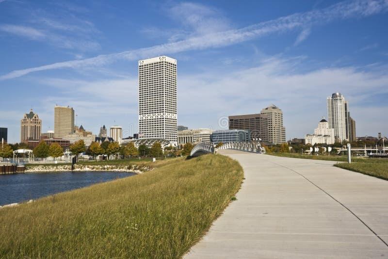 Straße nach Milwaukee stockbild