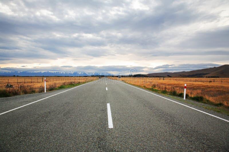 Straße nach Neuseeland stockfoto