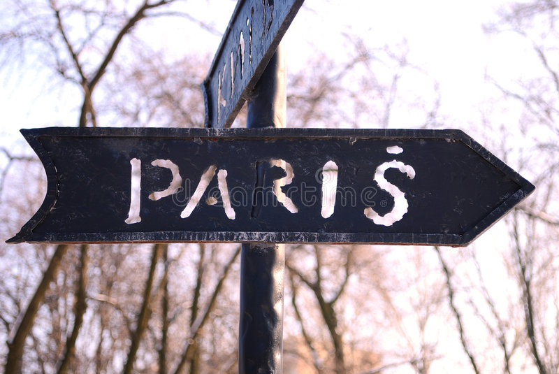 Straße nach Paris stockfotos