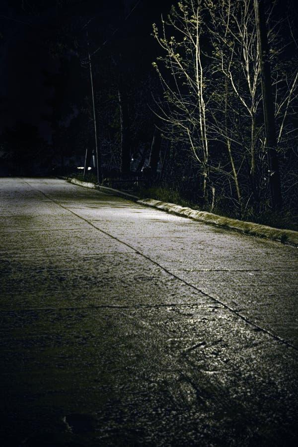 Straße nachts stockfotografie