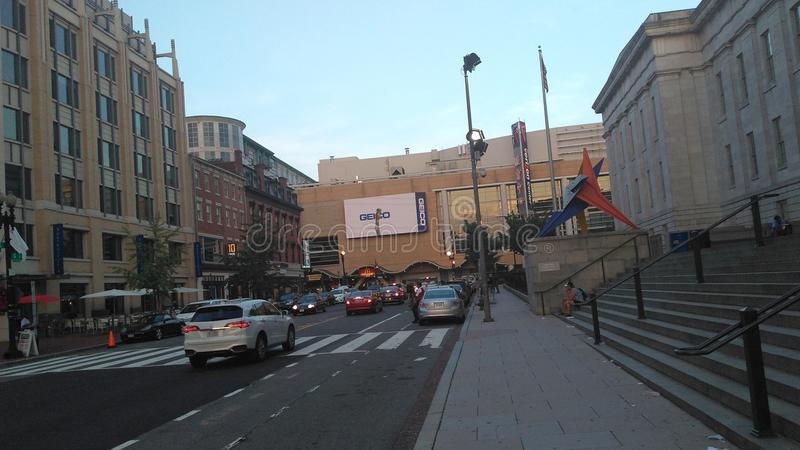 Straße nah an Verizon-Mitte in DC stockbild