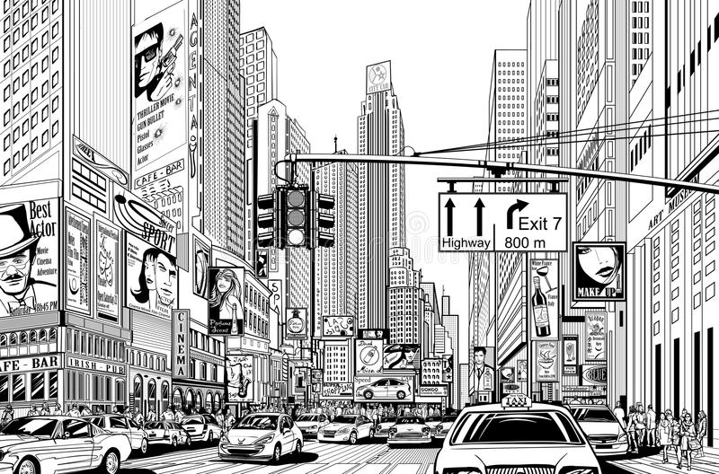 Straße in New York City vektor abbildung