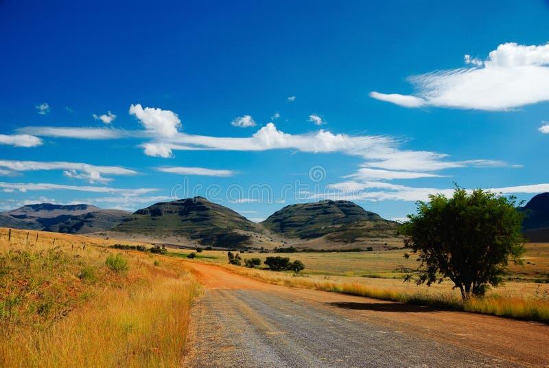 Straße nirgendwo (Südafrika) stockfotografie