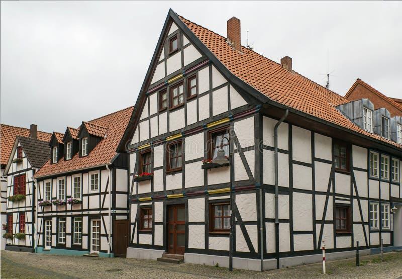 Straße in Paderborn, Deutschland stockbilder