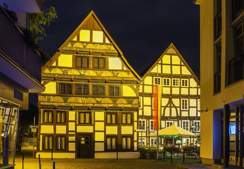 Straße in Paderborn, Deutschland lizenzfreie stockfotos