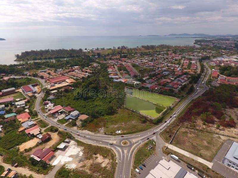 Straße Papar-Kota Kinabalu stockfotos