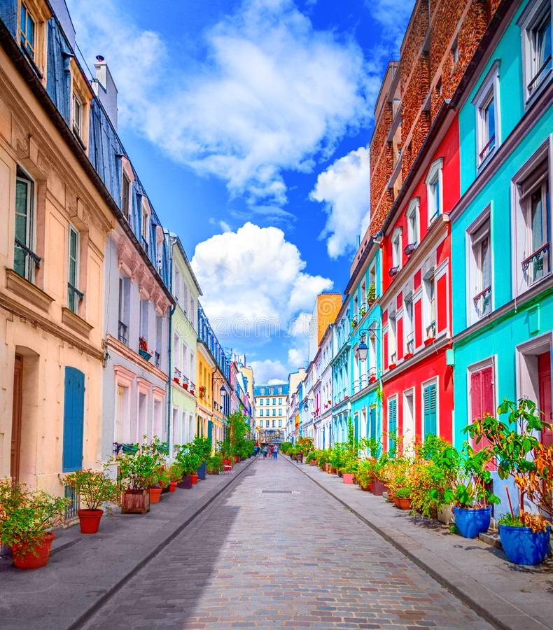 Straße in Paris stockfotos