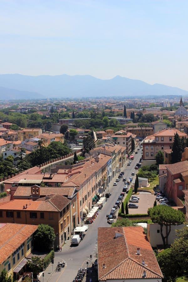 Straße in Pisa stockbilder