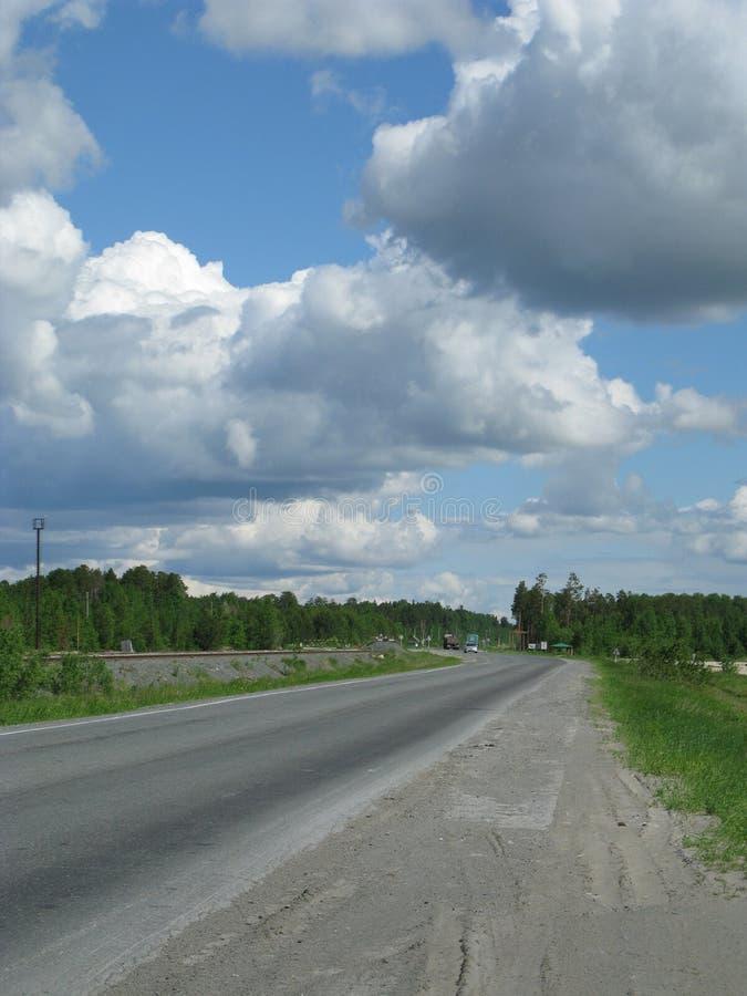 Straße in Russland stockbild