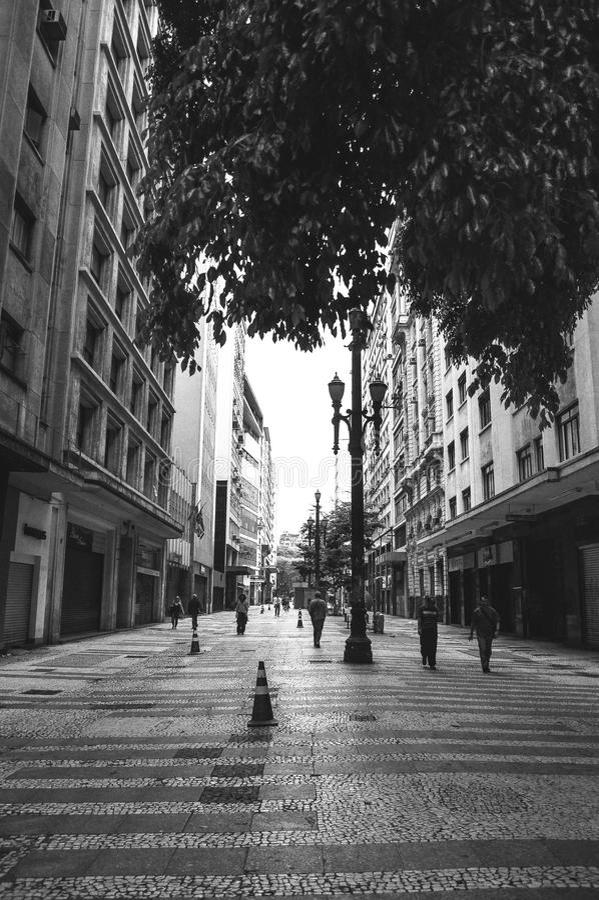 Straße São Paulo Schwarzweiss lizenzfreies stockfoto