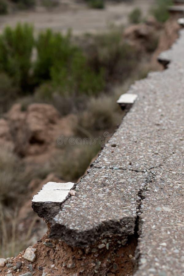 Straße in schlechter Zustand stockfoto