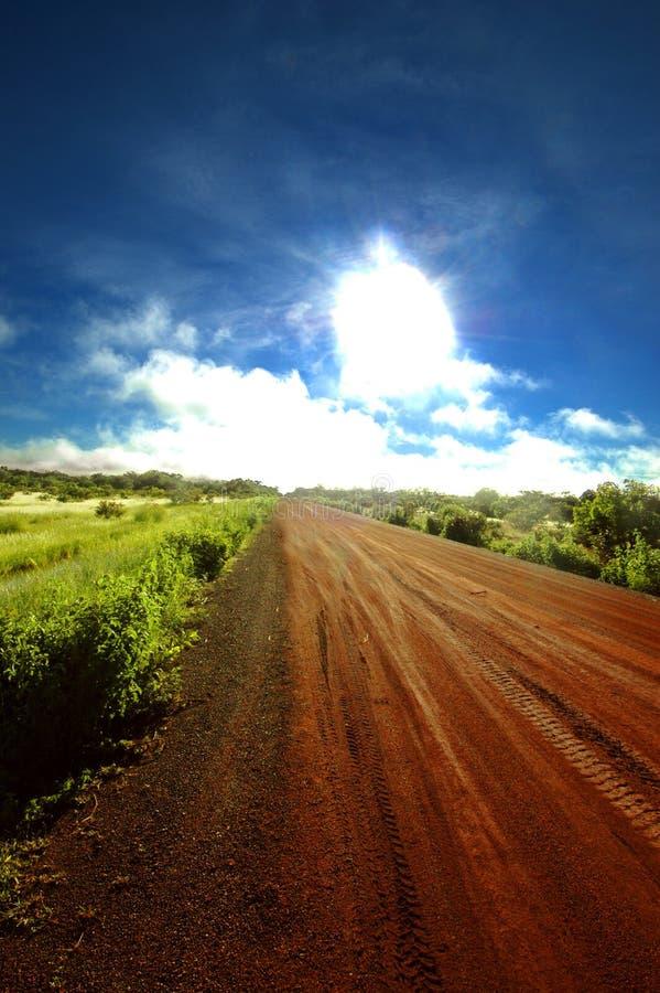 Straße in Senegal, Afrika stockbilder