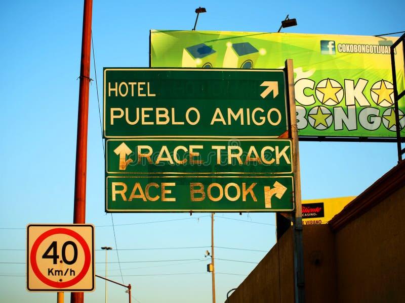 Straße Signage bei Tijuana Mexiko lizenzfreies stockbild