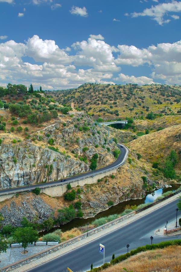 Straße Stadt Toledo, Spanien stockbild