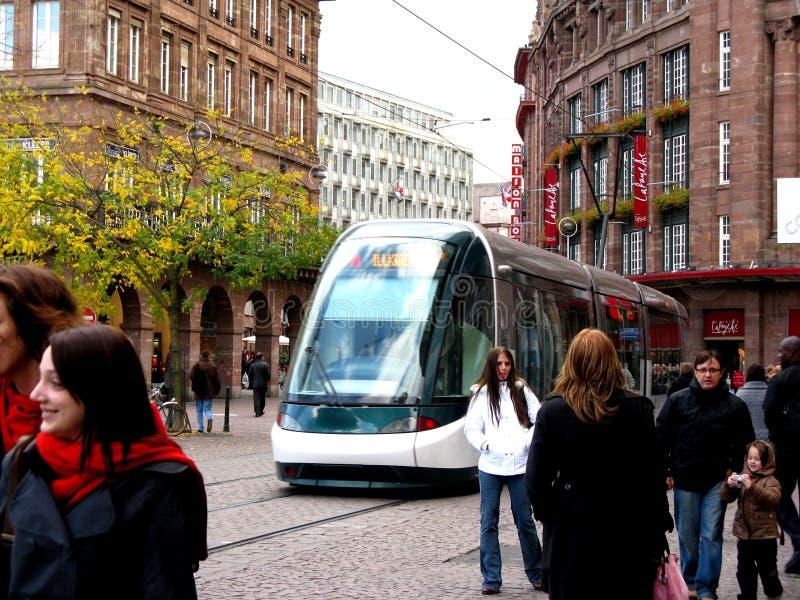 Straße in Straßburg stockfoto