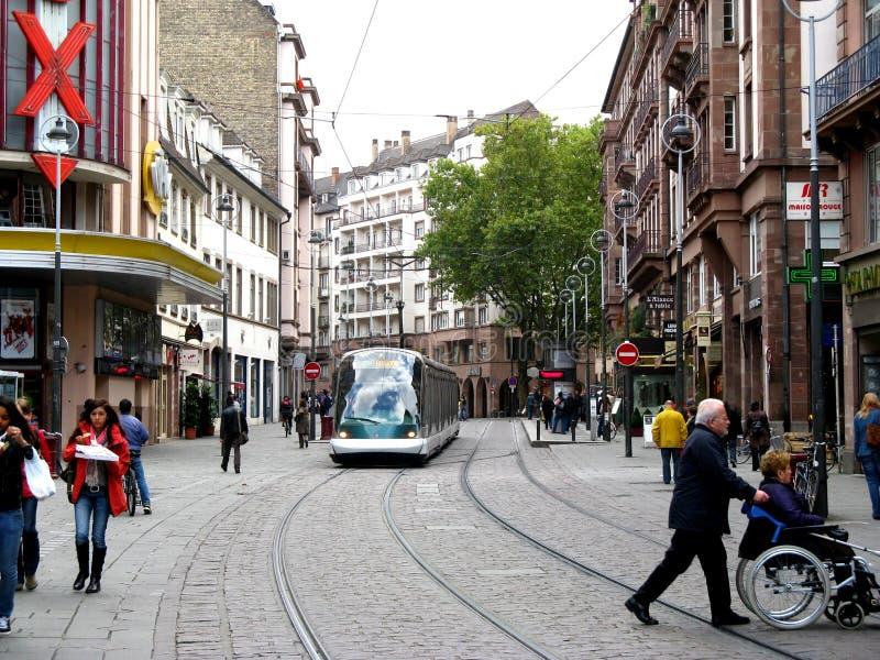 Straße in Straßburg stockfotografie