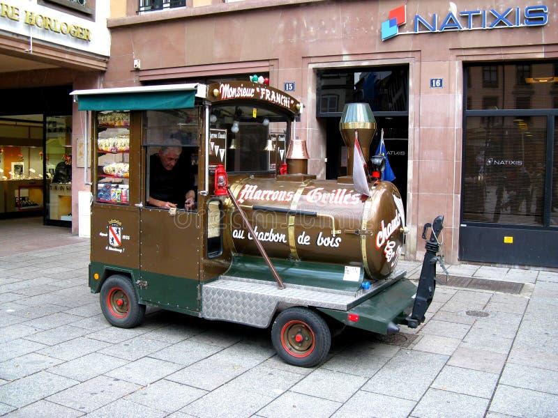 Straße in Straßburg lizenzfreie stockfotografie