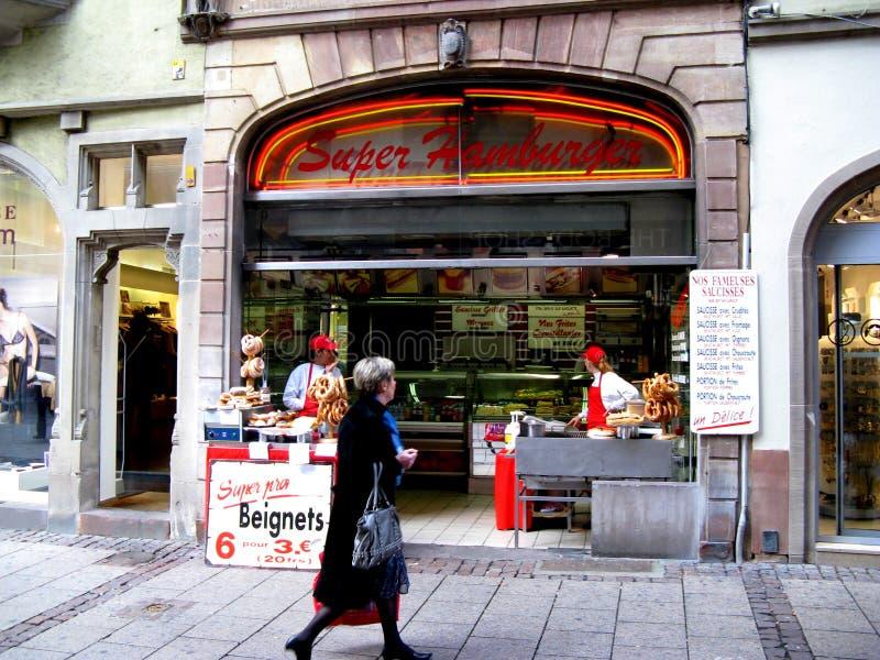 Straße in Straßburg stockfotos