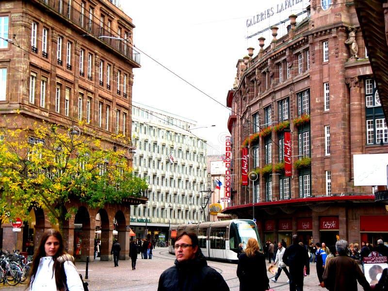 Straße in Straßburg lizenzfreie stockbilder