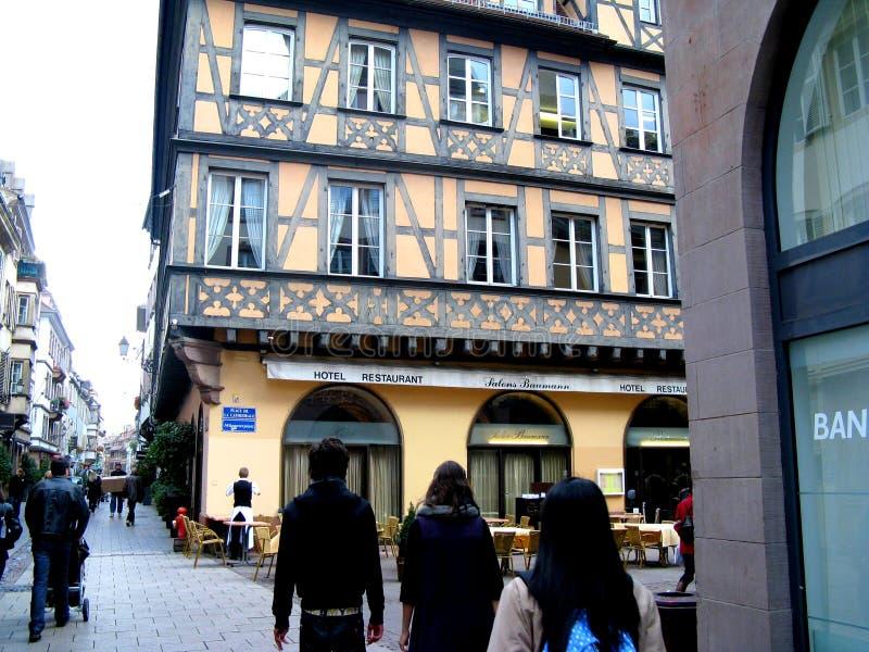 Straße in Straßburg stockbilder