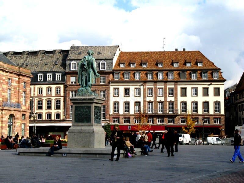 Straße in Straßburg lizenzfreies stockfoto