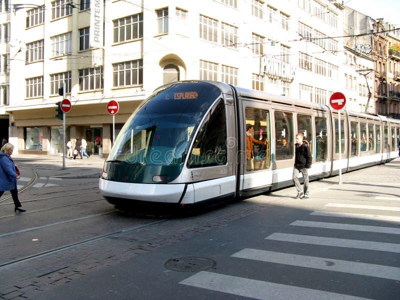 Straße in Straßburg lizenzfreie stockfotos