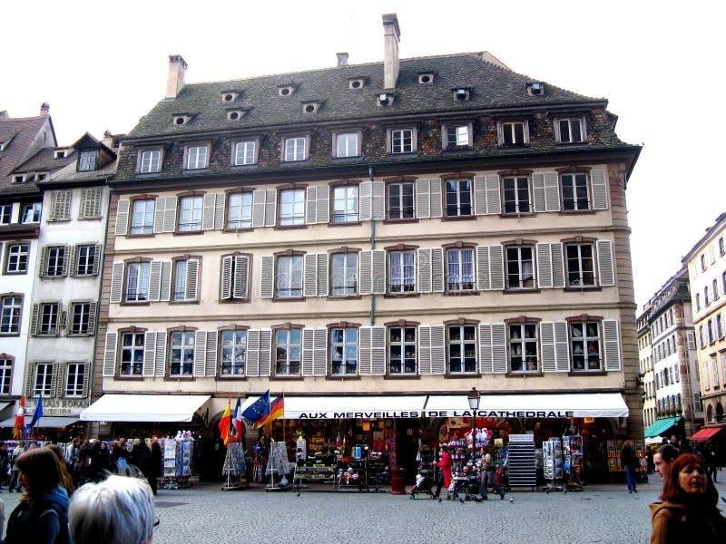 Straße in Straßburg lizenzfreies stockbild