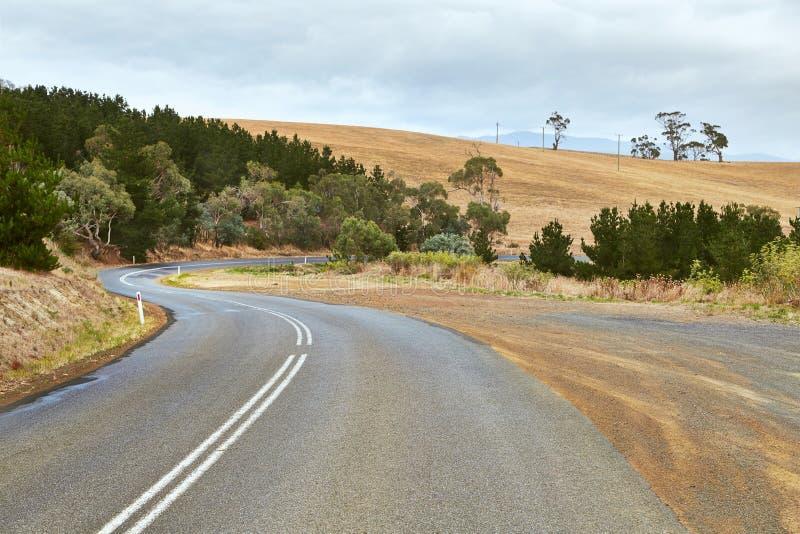 Straße in Tasmanien lizenzfreie stockfotografie
