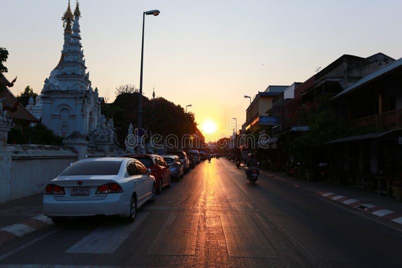 Straße Tha Phae lizenzfreie stockfotografie