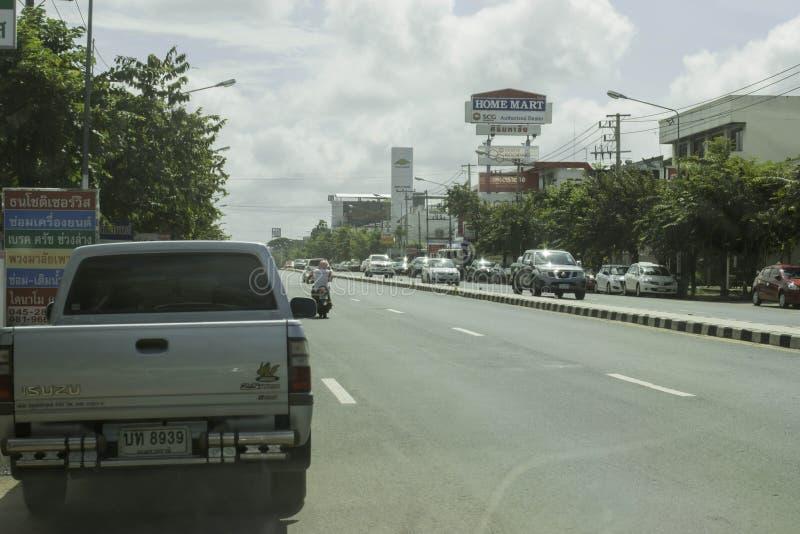 Straße in Ubon, Thailand stockbilder