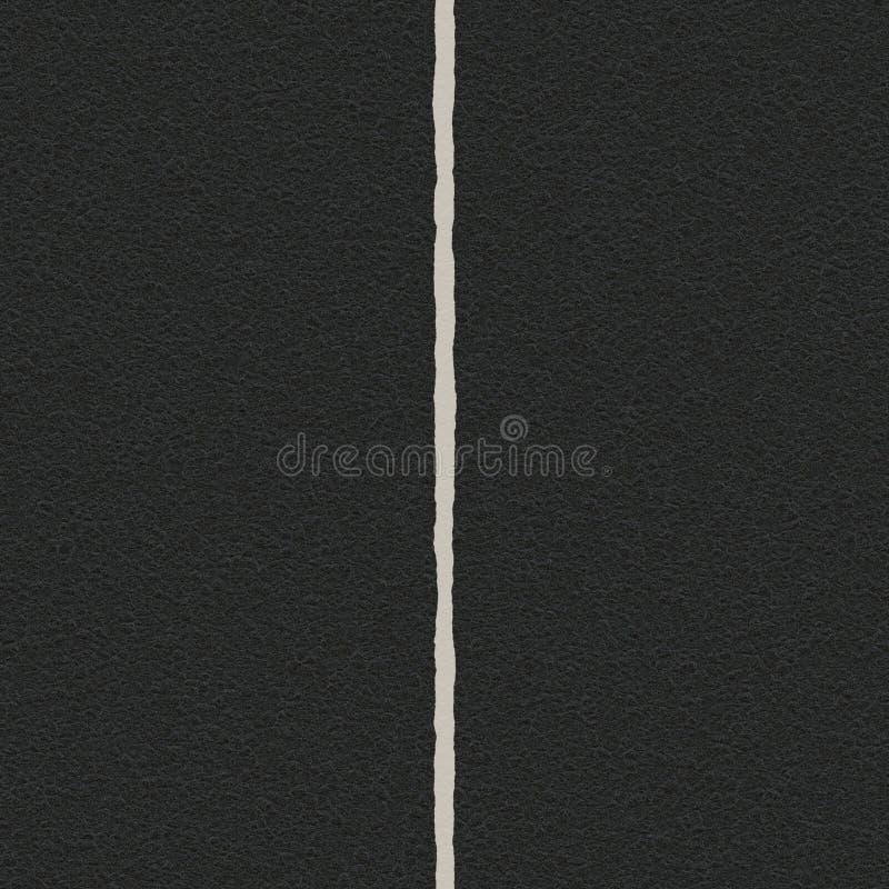 Straße und Mitte zeichnen, Wegstreifen, der Trennstreifen, der Wege trennt lizenzfreies stockbild