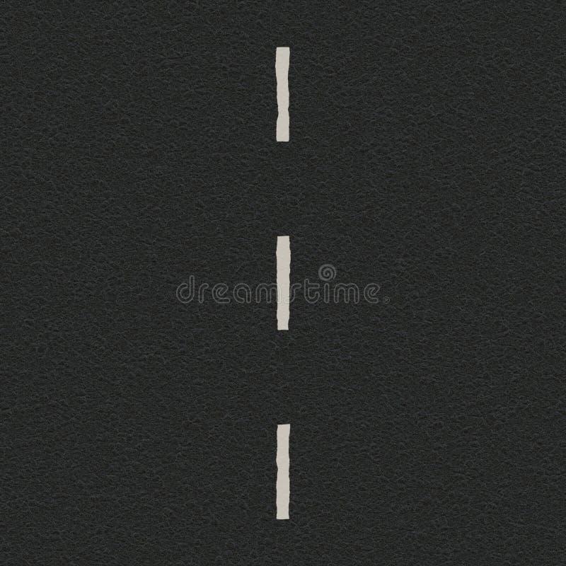 Straße und Mitte zeichnen, Wegstreifen, der Trennstreifen, der Wege trennt lizenzfreie stockbilder