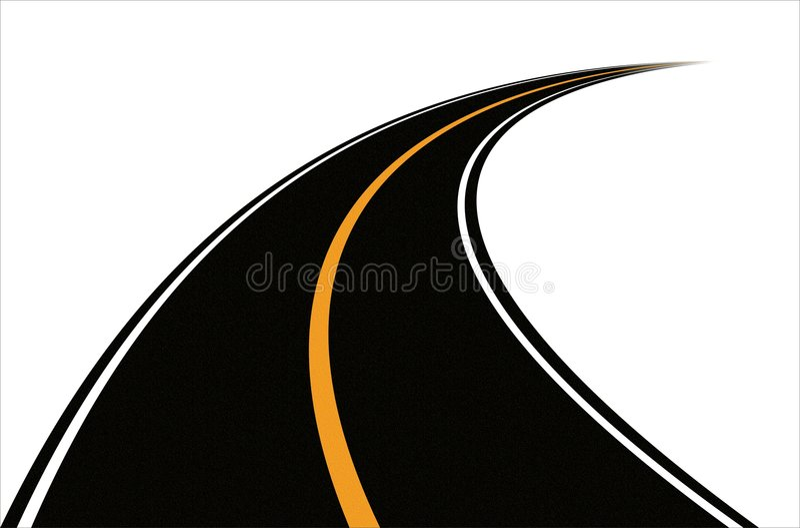 Straße (Vektor) stock abbildung